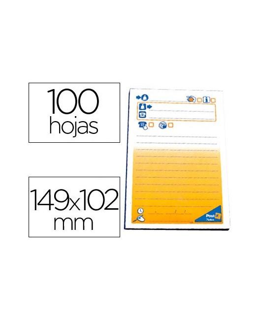 BLOC DE NOTAS ADHESIVAS QUITA Y PON POST-IT 102X76 MM TELEFONICO -7694-