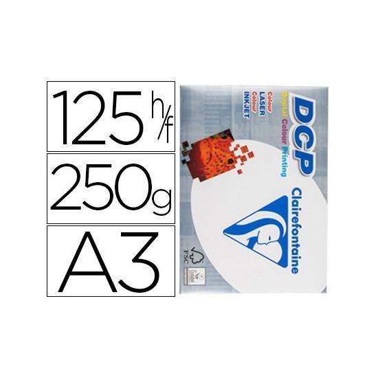 PAPEL FOTOCOPIADORA CLAIREFONTAINE DIN A3 250 GRAMOS PAQUETE DE 125 HOJAS