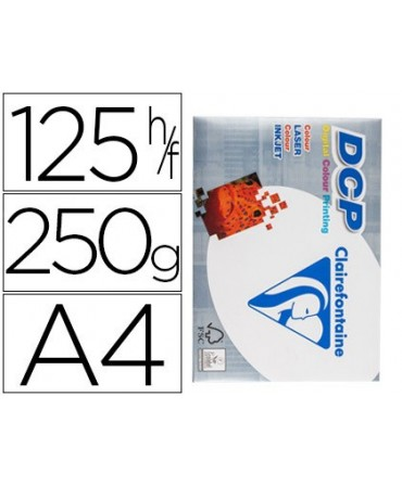 PAPEL FOTOCOPIADORA CLAIREFONTAINE DIN A4 250 GRAMOS PAQUETE DE 125 HOJAS