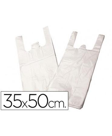 BOLSA PLASTICO CAMISETA 35X50 CM -PAQUETE 200 12 MICRAS