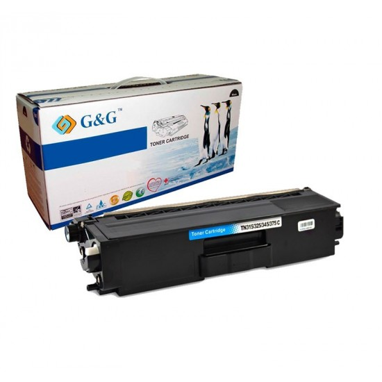 G&G TN320C / TN325C CYAN CARTUCHO DE TONER GENERICO BROTHER