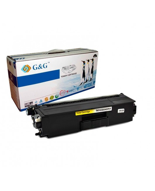G&G TN320Y / TN325Y AMARILLO CARTUCHO DE TONER GENERICO BROTHER