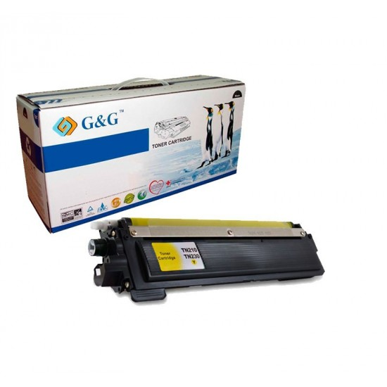 G&G TN230Y AMARILLO CARTUCHO DE TONER GENERICO BROTHER