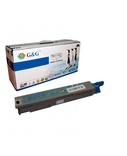 G&G OKI C3300  /  C3400 / C3450 / C3520 / C3530 / C3600 / MC350 / MC360 NEGRO CARTUCHO DE TONER GENERICO UNIVERSAL