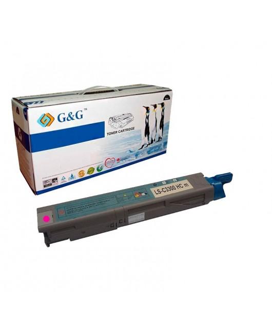 G&G OKI C3300 / C3400/C3450/C3520/C3530/C3600/MC350/MC360 MAGENTA CARTUCHO DE TONER GENERICO UNIVERSAL
