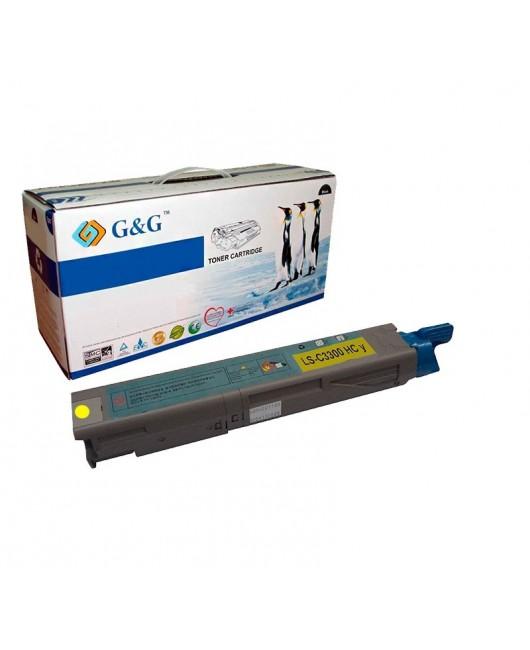 G&G OKI C3300 / C3400 / C3450 / C3520 / C3530 / C3600 / MC350 / MC360 AMARILLO CARTUCHO DE TONER GENERICO UNIVERSAL