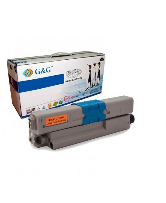 G&G OKI C310 / C510 / MC351 / MC361 NEGRO CARTUCHO DE TONER GENERICO 44469803