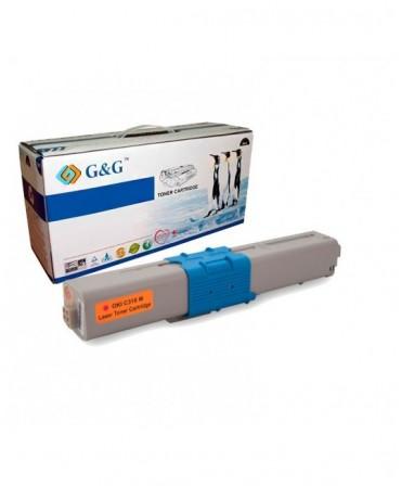 G&G OKI C310 / C510 / MC351 / MC361 MAGENTA CARTUCHO DE TONER GENERICO 44469705