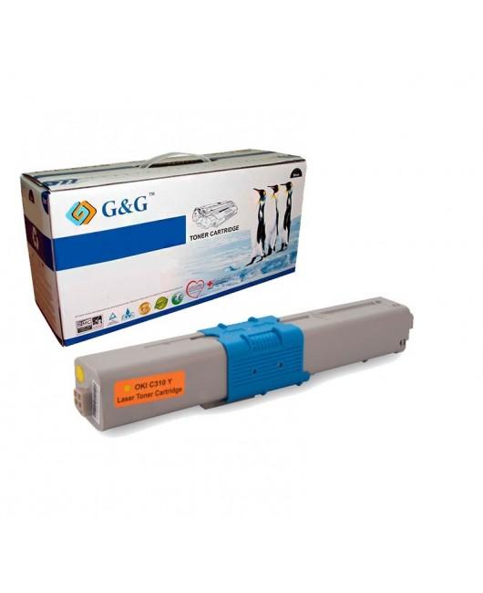 G&G OKI C310 / C510 / MC351 / MC361 AMARILLO CARTUCHO DE TONER GENERICO 44469704