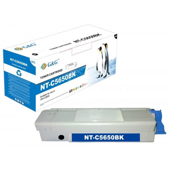 G&G OKI C5650/C5750 NEGRO CARTUCHO DE TONER GENERICO 43865708