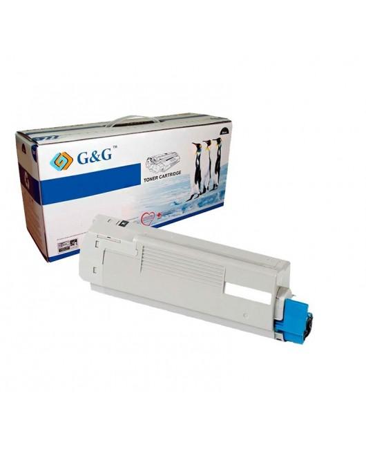 G&G OKI C5800 / C5900 / C5550MFP NEGRO CARTUCHO DE TONER GENERICO 43324424