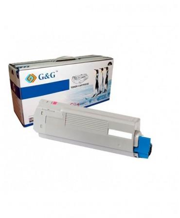 G&G OKI C5800 / C5900 / C5550MFP MAGENTA CARTUCHO DE TONER GENERICO 43324422