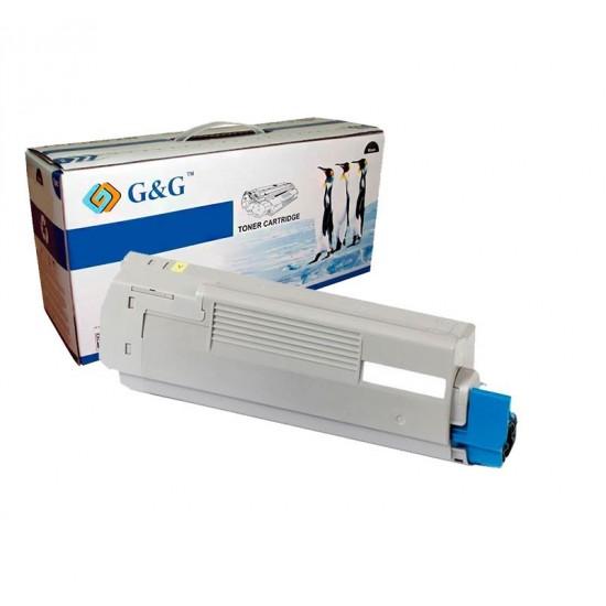 G&G OKI C5800 / C5900 / C5550MFP AMARILLO CARTUCHO DE TONER GENERICO 43324421