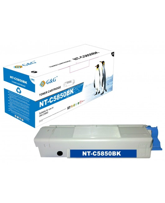 G&G OKI C5850 / C5950 / MC560 NEGRO CARTUCHO DE TONER GENERICO 43865724