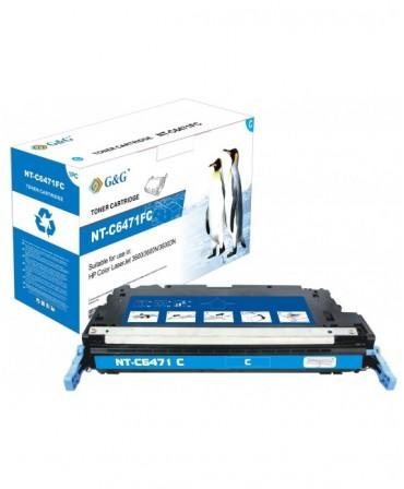 G&G HP Q6471A CYAN CARTUCHO DE TONER GENERICO Nº502A