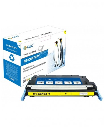G&G HP Q6472A AMARILLO CARTUCHO DE TONER GENERICO Nº502A
