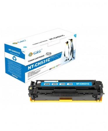 G&G HP CC531A CYAN CARTUCHO DE TONER GENERICO Nº304A