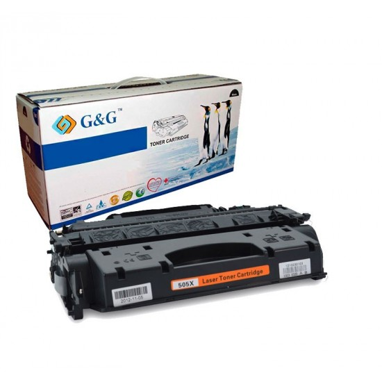 G&G HP CE505X NEGRO CARTUCHO DE TONER GENERICO Nº05X