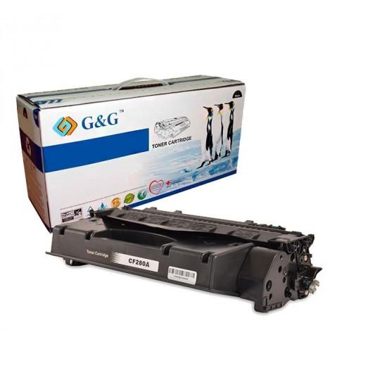 G&G HP CF280A NEGRO CARTUCHO DE TONER GENERICO Nº80A