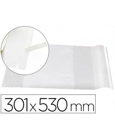 FORRALIBRO LIDERPAPEL Nº30 CON SOLAPA AJUSTABLE ADHESIVO 296 X 530 MM