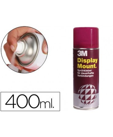 PEGAMENTO SCOTCH SPRAY DISPLAY MOUNT 400 ML ADHESIVO PERMANENTE