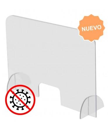 PANTALLA ACRILICA PROTECTORA COVID-19 DE SOBREMESA SEPARADOR ACRILICO  70X85X50CM