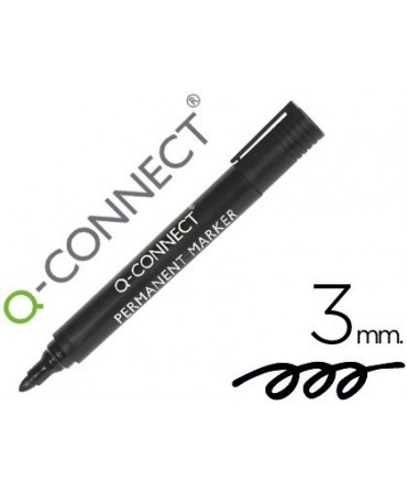 ROTULADOR Q-CONNECT MARCADOR PERMANENTE NEGRO PUNTA REDONDA 3.0 MM
