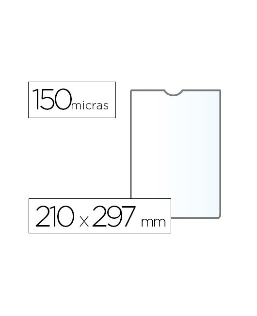 FUNDA PORTADOCUMENTO Q-CONNECTFOLIO 140 MICRAS PVC TRANSPARENTE 230X330MM