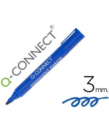 ROTULADOR Q-CONNECT MARCADOR PERMANENTE AZUL PUNTA REDONDA 3.0 MM