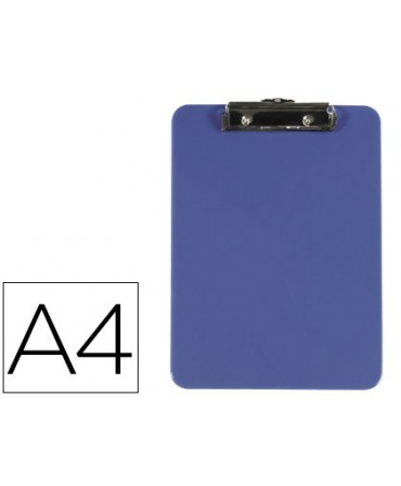 PORTANOTAS Q-CONNECT PLASTICO DIN A4 AZUL 3 MM