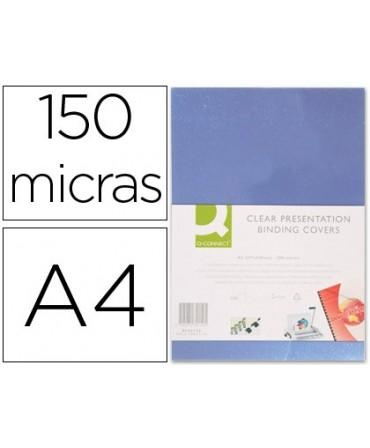 TAPA DE ENCUADERNACION Q-CONNECT PVC DIN A4 INCOLORA 150 MC CAJA DE 100 UNIDADES