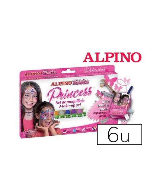 BARRA MAQUILLAJE ALPINO SET DE MAQUILLAJE PRINCESS 6 COLORES
