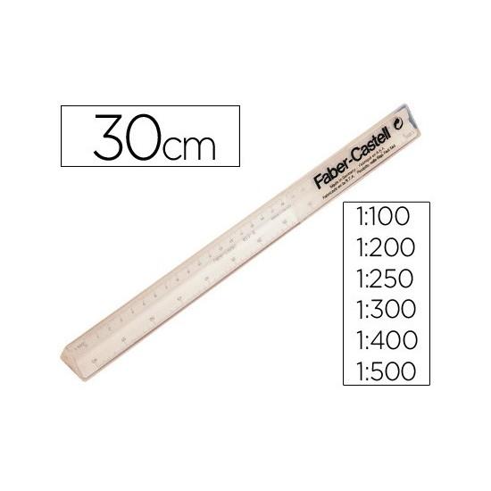 ESCALA FABER PLASTICO 853-B 30 CM.