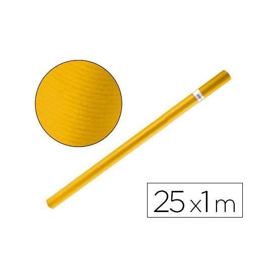 PAPEL KRAFT LIDERPAPEL AMARILLO ORO ROLLO 25 MT