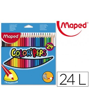 LAPICES DE COLORES MAPED 183224 TRIANGULARES C/ DE 24