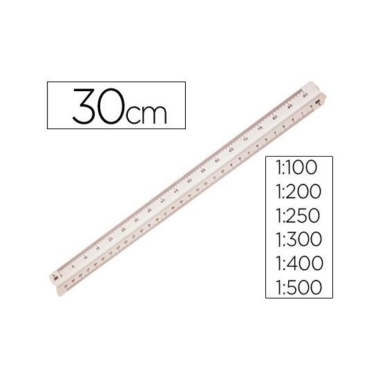ESCALA MOR 1632.05 -1:100-200-250-300-400-500 -30 CM -ESTUCHE FLEXIBLE