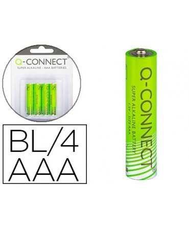 PILA Q-CONNECT ALCALINA AAA -BLISTER CON 4 PILAS