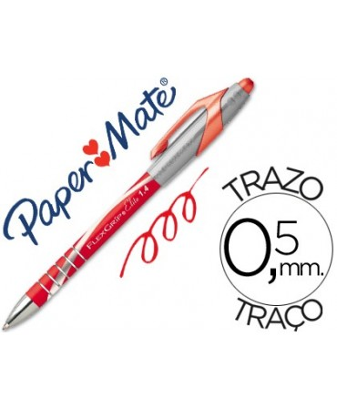 BOLIGRAFO FLEXGRIP ELITE PAPER MATE RETRACTIL ROJO