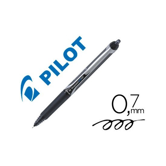 ROTULADOR PILOT PUNTA AGUJA V-7 RETRACTIL NEGRO 0.7 MM