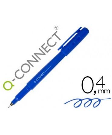 ROTULADOR Q-CONNECT PUNTA DE FIBRA FINE LINER AZUL 0.4 MM
