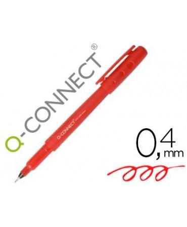 ROTULADOR Q-CONNECT PUNTA DE FIBRA FINE LINER ROJO 0.4 MM