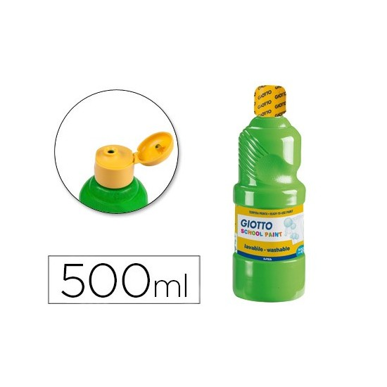 TEMPERA LIQUIDA GIOTTO ESCOLAR LAVABLE 500 ML VERDE CINABRIO