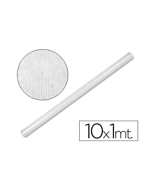 PAPEL KRAFT LIDERPAPEL BLANCO -ROLLO 10X1 MT