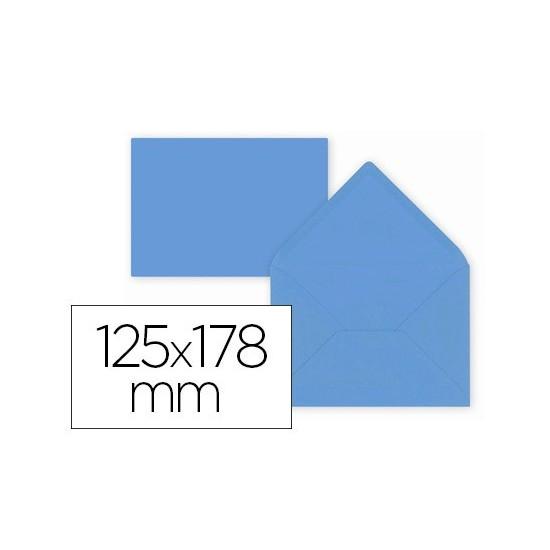SOBRE LIDERPAPEL B6 AZUL OSCURO 125X178 MM 80GR PACK DE 15 UNIDADES